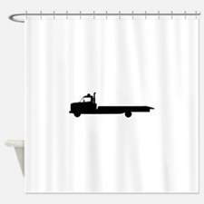 FLATBED TOW TRUCK Shower Curtain