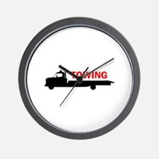FLATBED TOWING Wall Clock