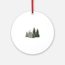 Thoreaus Cabin Ornament (Round)
