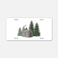 Thoreaus Cabin Aluminum License Plate