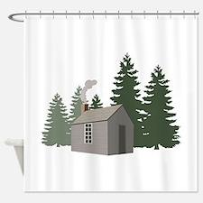 Thoreaus Cabin Shower Curtain