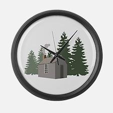 Thoreaus Cabin Large Wall Clock