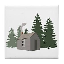 Thoreaus Cabin Tile Coaster