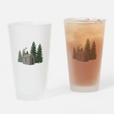 Thoreaus Cabin Drinking Glass