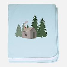 Thoreaus Cabin baby blanket