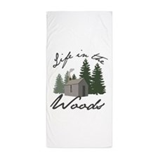 Life in the Woods Beach Towel