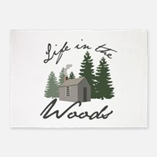 Life in the Woods 5'x7'Area Rug