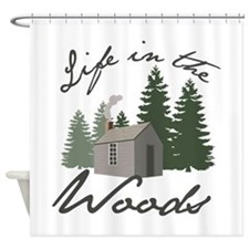 Life in the Woods Shower Curtain