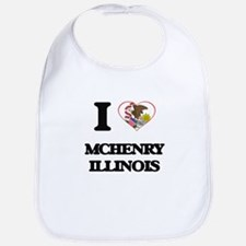 I love Mchenry Illinois Bib