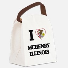 I love Mchenry Illinois Canvas Lunch Bag