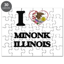 I love Minonk Illinois Puzzle