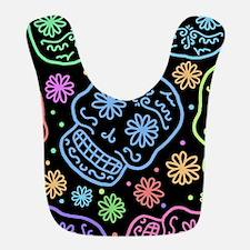 Colorful Sugar Skull Pattern Bib