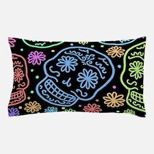 Colorful Sugar Skull Pattern Pillow Case