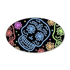 Colorful Sugar Skull Pattern Wall Decal