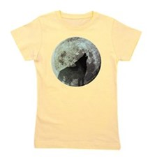 Wolf howling at the moon Girl's Tee