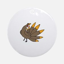 SMALL TURKEY Ornament (Round)