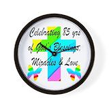 85th birthday Wall Clocks