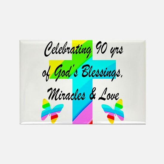90 YR OLD BLESSING Rectangle Magnet