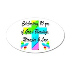 90 YR OLD BLESSING Wall Decal