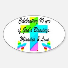 90 YR OLD BLESSING Decal