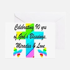 90 YR OLD BLESSING Greeting Card