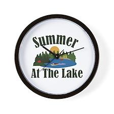 Summer At Lake Wall Clock