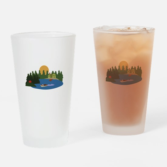 Lake House Drinking Glass