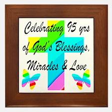 95 YR OLD BLESSING Framed Tile