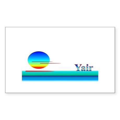 Yair Rectangle Sticker