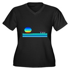 Yair Women's Plus Size V-Neck Dark T-Shirt