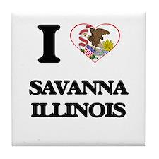 I love Savanna Illinois Tile Coaster
