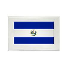 El Salvadoran Flag Rectangle Magnet