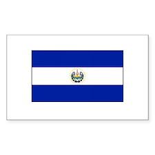 El Salvadoran Flag Rectangle Decal