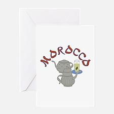 Morocco Tea Greeting Cards