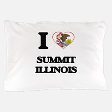 I love Summit Illinois Pillow Case