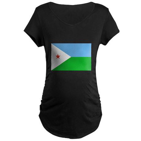 Djibouti Flag Maternity Dark T-Shirt