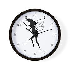 Pregnant Fairy Silhouette Wall Clock