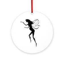 Pregnant Fairy Silhouette Ornament (Round)