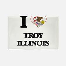 I love Troy Illinois Magnets