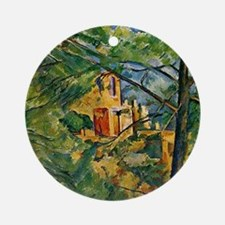 Cute Cezanne landscape painting Round Ornament