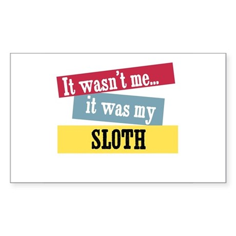Sloth Rectangle Sticker