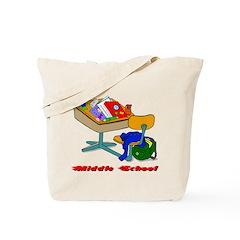 Middle School Desk Tote Bag