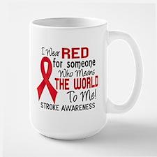 Stroke MeansWorldToMe2 Large Mug