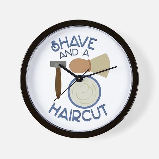 Shave And Haircut! Wall Clock