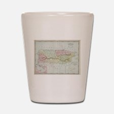Vintage Map of Puerto Rico (1901) Shot Glass