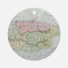 Vintage Map of Puerto Rico (1901) Ornament (Round)
