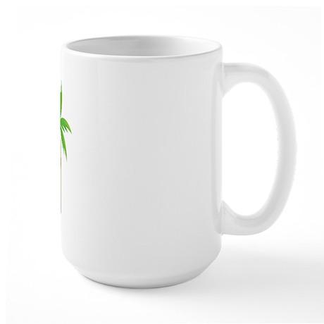 Groom Tropical Wedding Large Mug