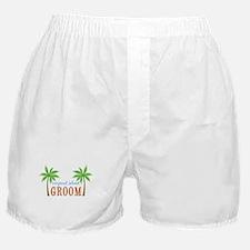 Groom Tropical Wedding Boxer Shorts