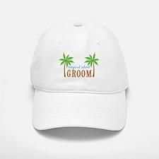 Groom Tropical Wedding Baseball Baseball Cap
