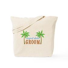 Groom Tropical Wedding Tote Bag